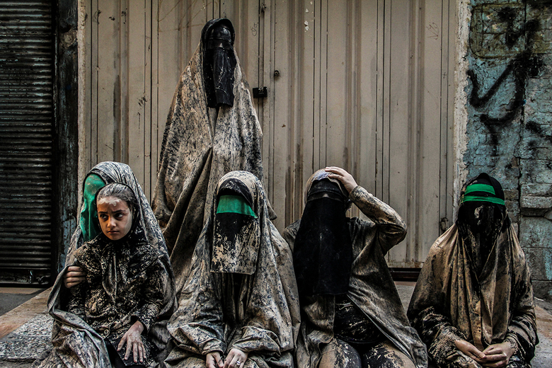 1 - Ashoura is a ritual Iranian ceremony that take place annually all over the country. In Khoramabad city people come together to mourning into the c