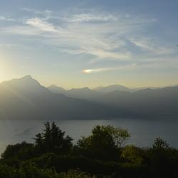 Zonsondergang over Gardameer