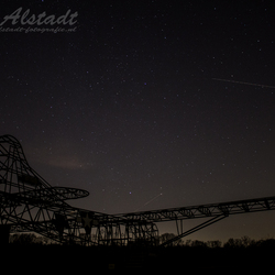 WACO-glider at night