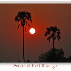 Sunset at the Okavango