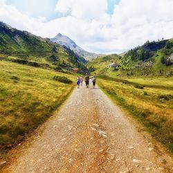 De weg naar de Neue Bamberger Hütte