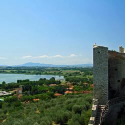 Uitzicht over Castiglione del lago