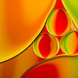 Olie en Water Abstract