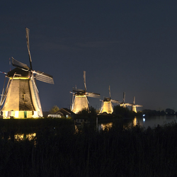 Kinderdijk at Night