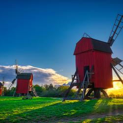 Historische molens op Öland, Zweden