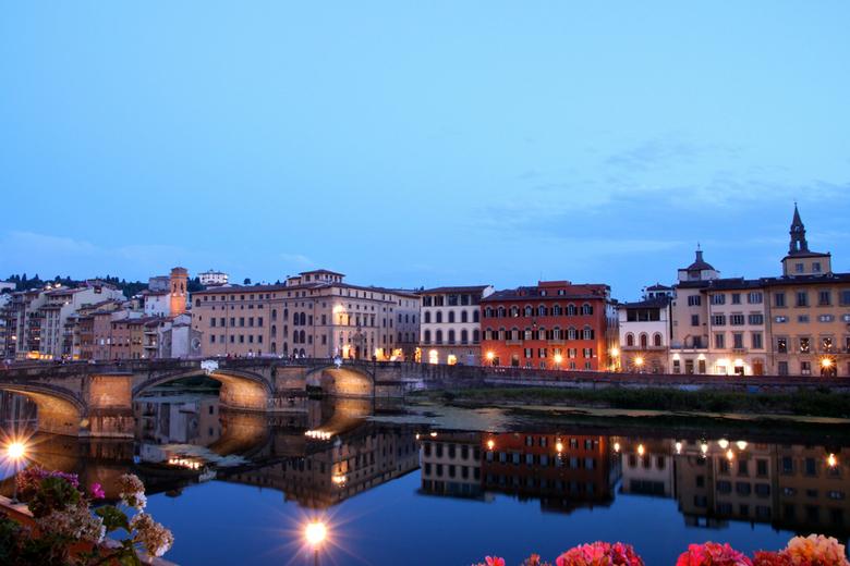 Florence bij avond - Deze foto heb ik genomen vanuit mijn hotel in Florence!