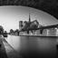 Notre Dam in zwart wit