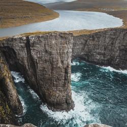 Optische illusie in de Faröer Eilanden