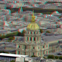 Dome Paris 3D anaglyph