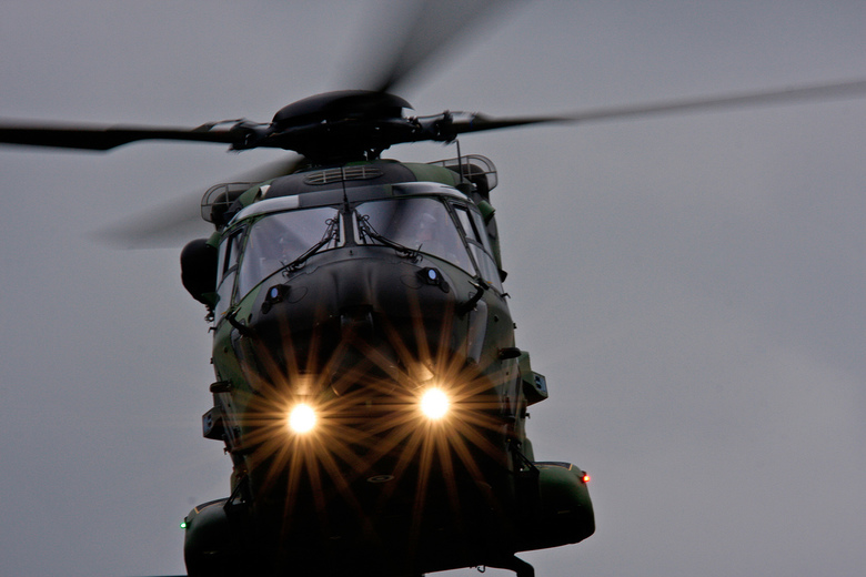 Lights On - Close up van de finse NH-90.