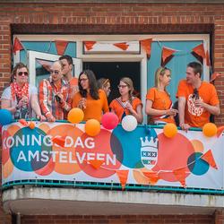 Balkonscene...............Koningsdag Amstelveen