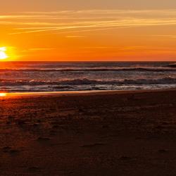 Zonsondergang bij Cadiz