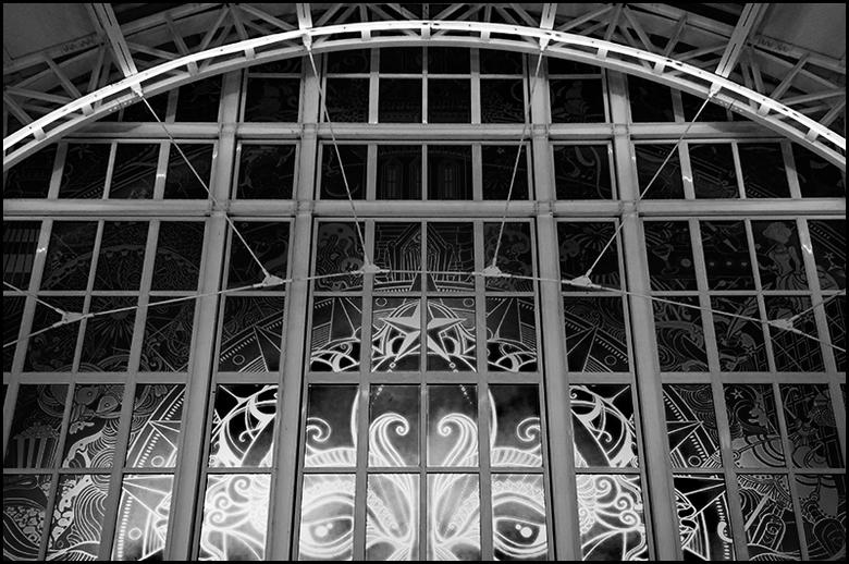 South-Africa 151 - Om het interieur, van de algemene galerijen van het winkelcentrum aan het Waterfront van Kaapstad, wat meer allure te geven, heeft