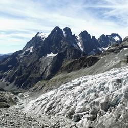 Uitzicht vanaf gletsjer