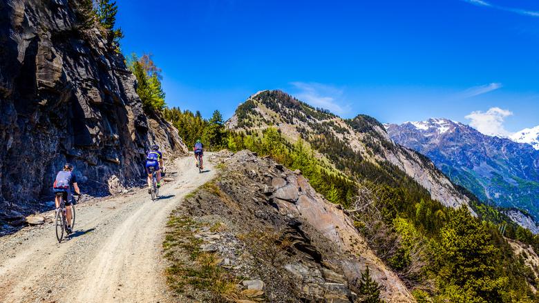 Fietstocht door de Alpen - Col du Solude vanuit Bourg d'Oisans.