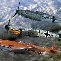 Formatie Messersmith Bf-109-G`s