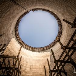 Koeltoren in Chernobyl