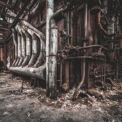 Abandoned steelworks.