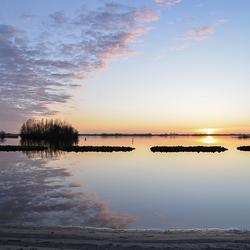 Zonsondergang de Lyen