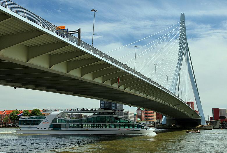 Erasmusbrug &amp; Spido - <br /> Op de foto te zien Erasmusbrug en Spido, Rotterdam.<br /> <br /> Spido rondvaarten verzorgt dagtochten en rondvaar