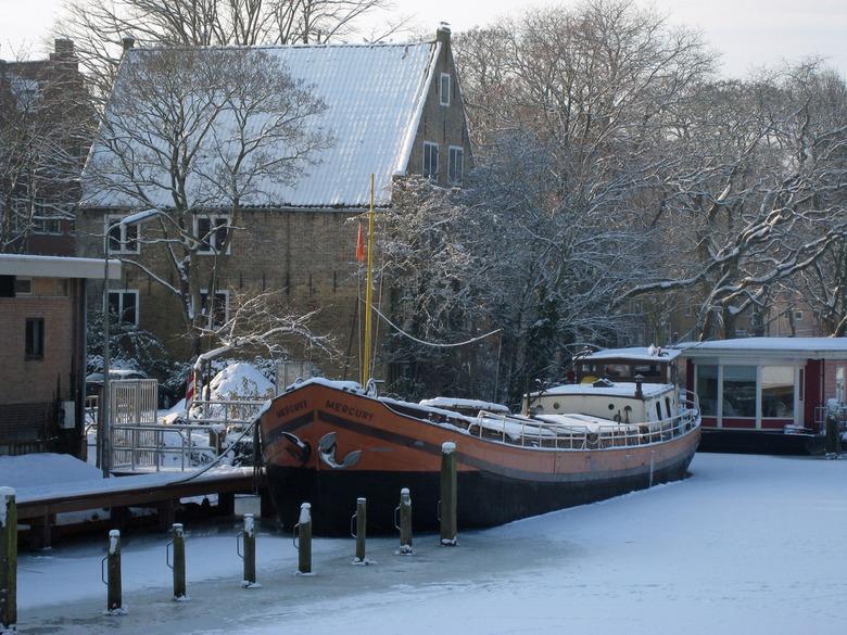 Mercury in het ijs in Enkhuizen -