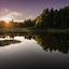 Idyllisch plaatje van zonsondergang