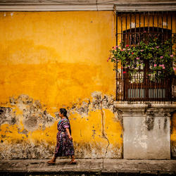 Antigua in yellow, Guatemala