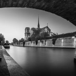 Notre Dame in zwart wit