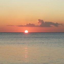 Zonsondergang Mauritius