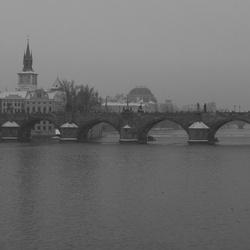 Karel's brug over de Moldau te Praag