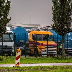 Scania in de hoek.