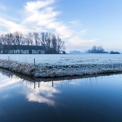 Vriesochtend polder Rockanje