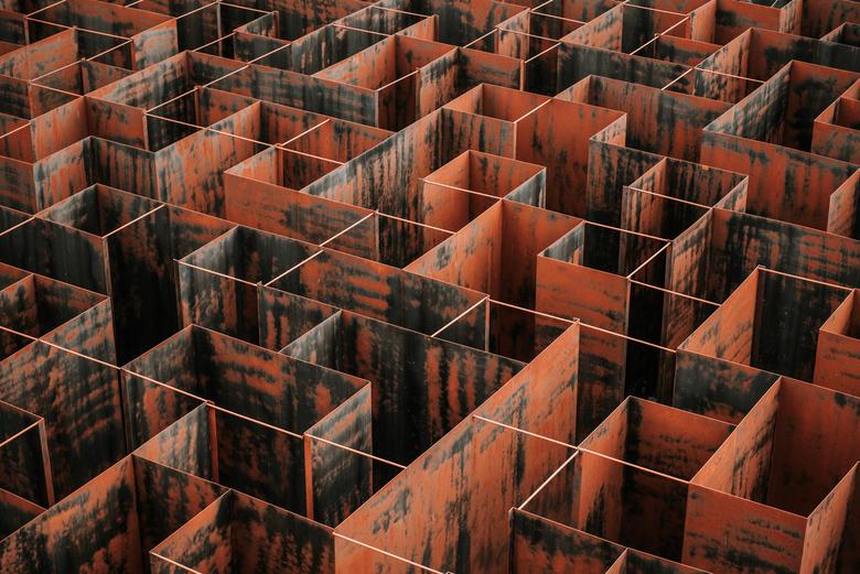 Labyrint - Een fantastisch labyrint om doorheen te lopen, maar ook om van boven te bekijken.