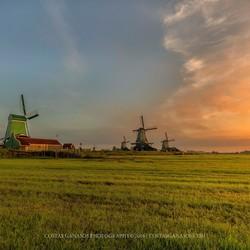 Sunrise by the Zaanse Schans
