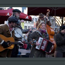 Straatmuzikanten in Antwerpen