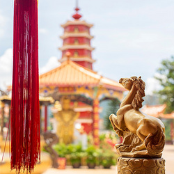 Het uitzicht van 10000 Boeddha's