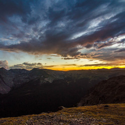 Sunset at Rocky Mountain National Park