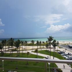 Regenbui onderweg naar Miami Beach