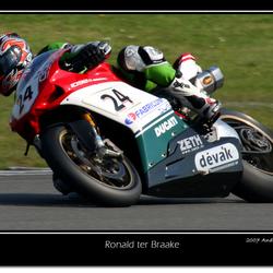 Ronald ter Braake op Ducati