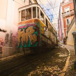 Hilly Tram Lisbon