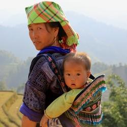 Moeder en kind uit Vietnam