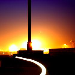 Monument met lichteffect