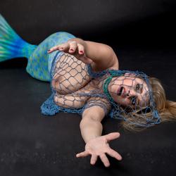 mermaid in trouble
