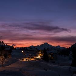 Sunset in Obertauern