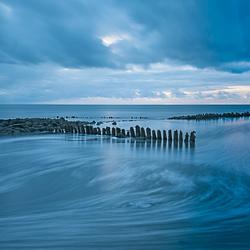 Blauwe uurtje aan de Waddenkust...........