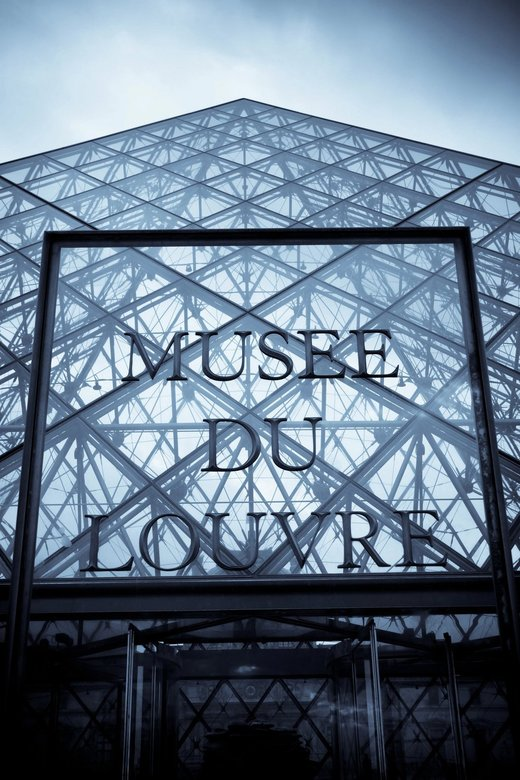 Musee Du Louvre - De moderne kant van het Musee Du Louvre