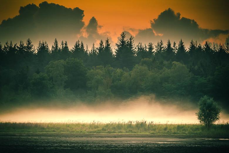 SKFotografie-Mepper hooilanden - Foto genomen bij de Mepper hooilanden bij ondergaande zon