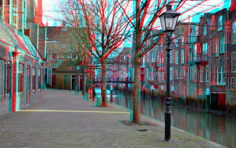Pottenkade Dordrecht 3D - Dordrecht pottenkade<br /> 3D stereo anaglyph red/cyan