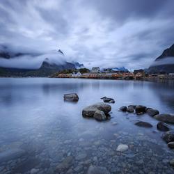 Sakrisoya, Lofoten, Noorwegen
