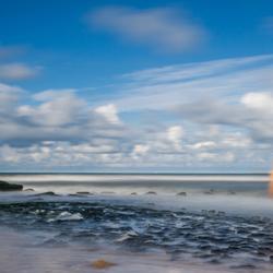 Long exposure Schevingenen strand